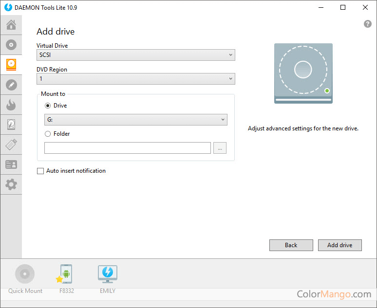 DAEMON Tools Lite Capture D'écran