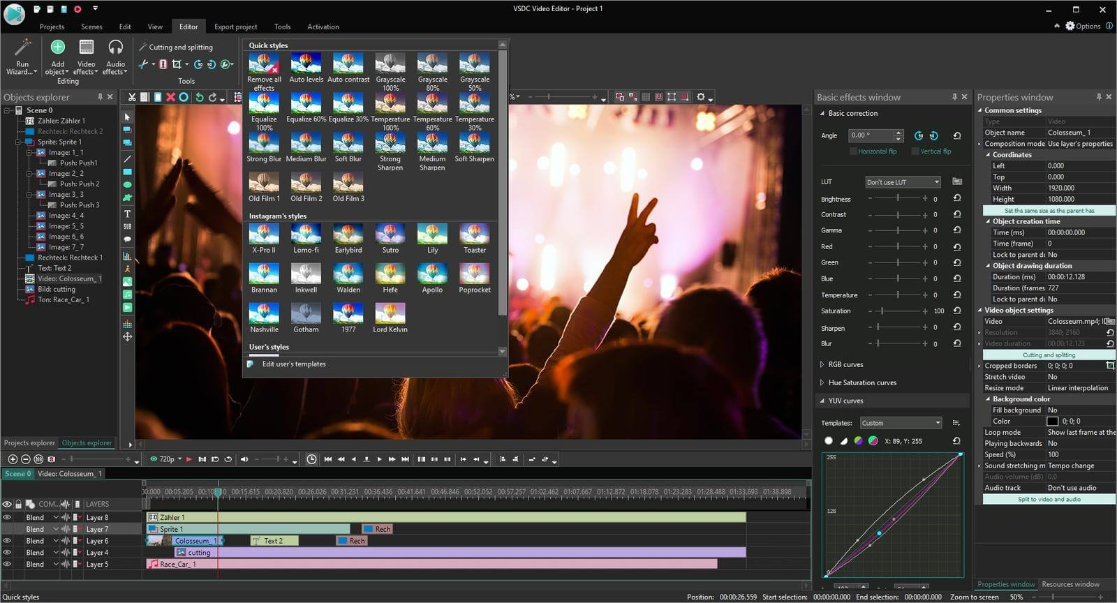 VSDC Video Editor Pro Capture D'écran