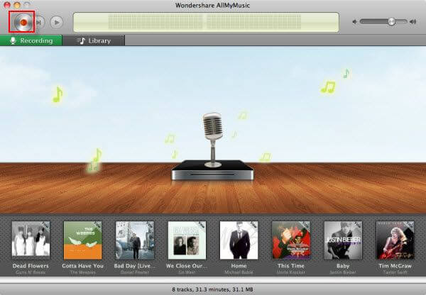 Wondershare AllMyMusic for Mac Capture D'écran