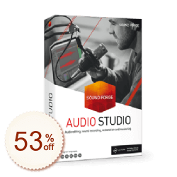 SOUND FORGE Audio Studio Info sur l'escompte