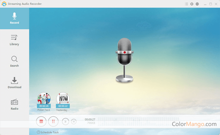 Apowersoft Streaming Audio Recorder Screenshot
