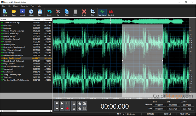 DJ Audio Editor Screenshot
