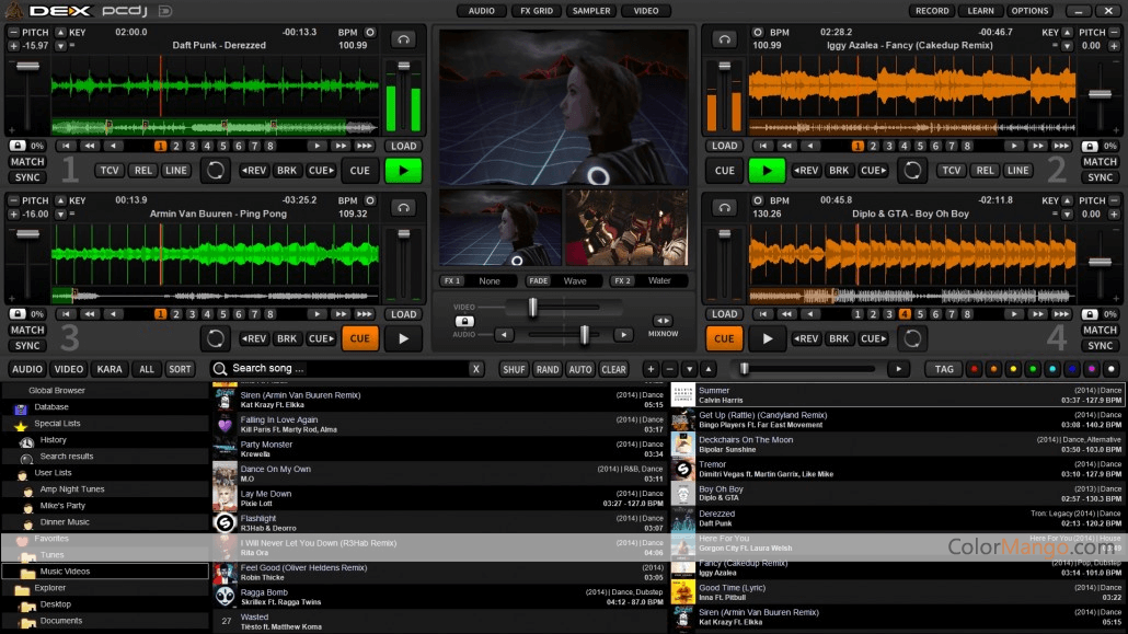 PCDJ DEX 3 Screenshot