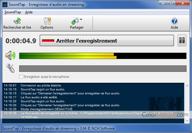 soundtap streaming audio recorder français