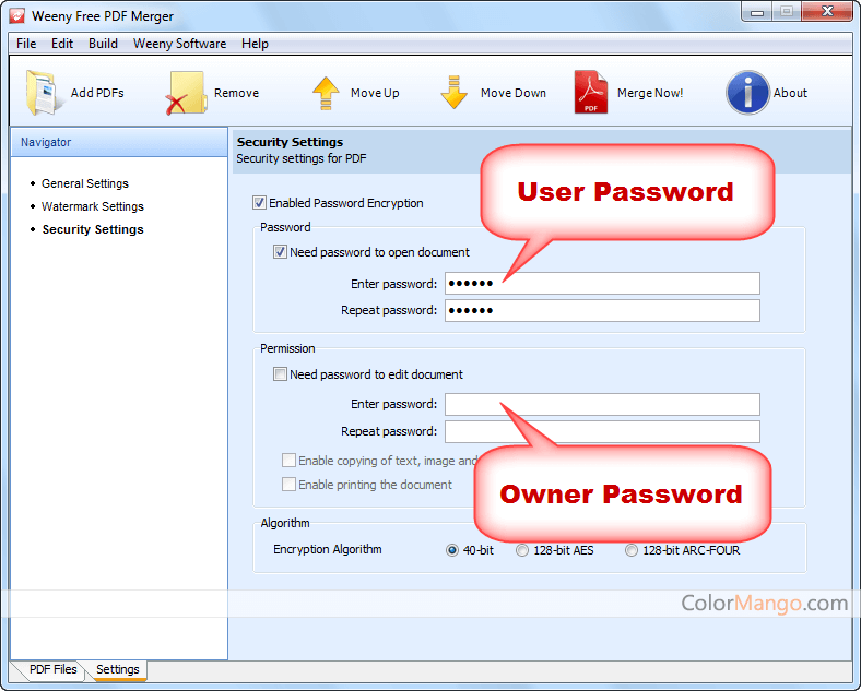 Weeny Free PDF Password Remover Capture D'écran