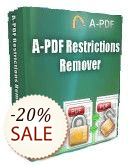 A-PDF Restrictions Remover Discount Coupon
