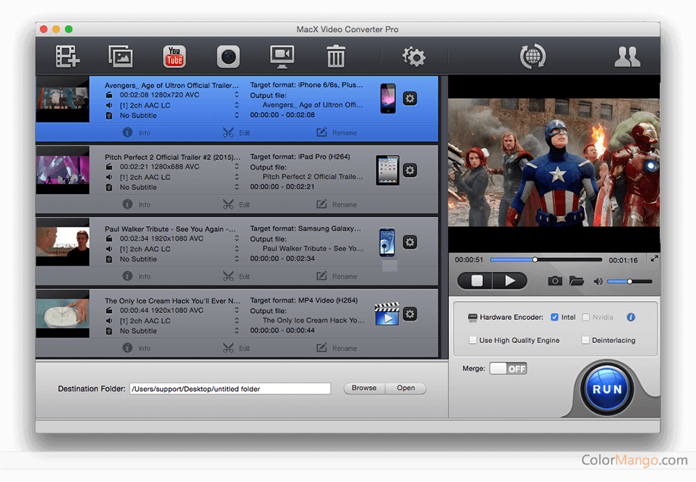 MacX DVD Video Converter Pro Pack Capture D'écran