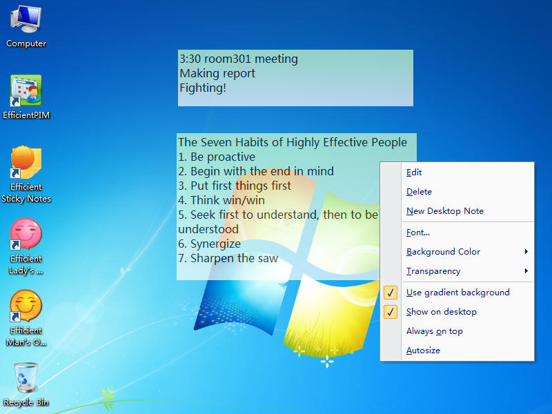 Efficient Sticky Notes Pro Screenshot