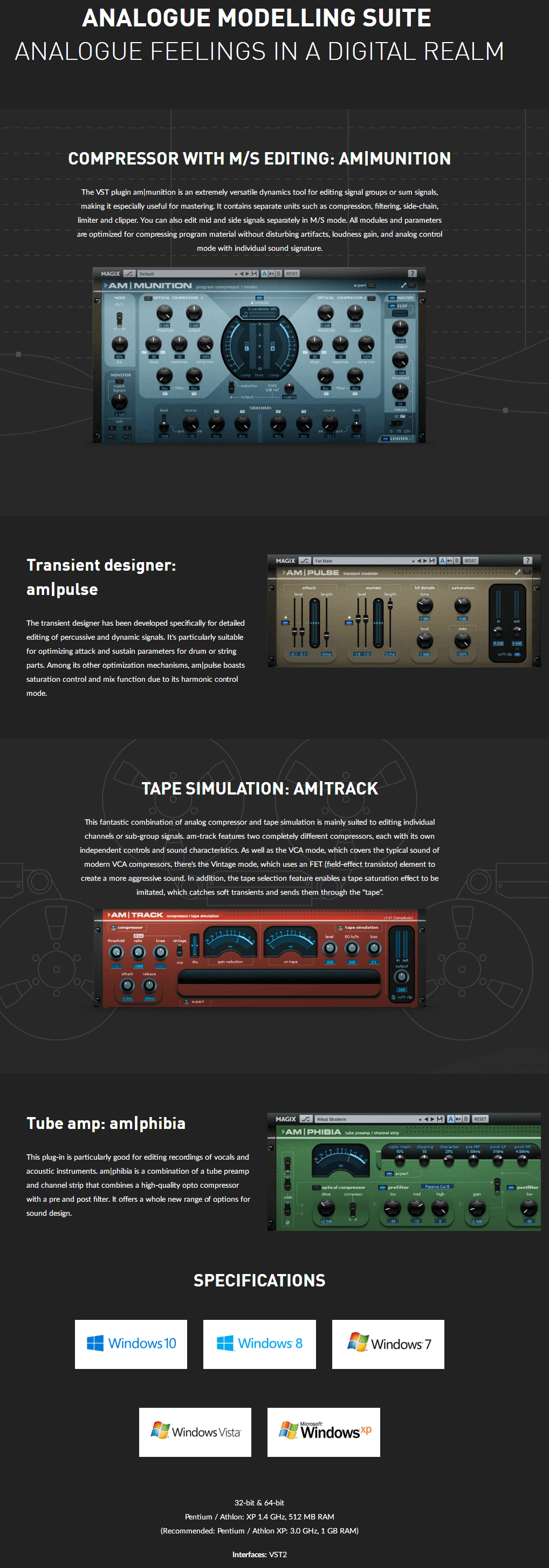 MAGIX Analogue Modelling Suite Plus Feature