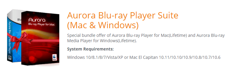 Aurora Blu-ray Player Suite Feature