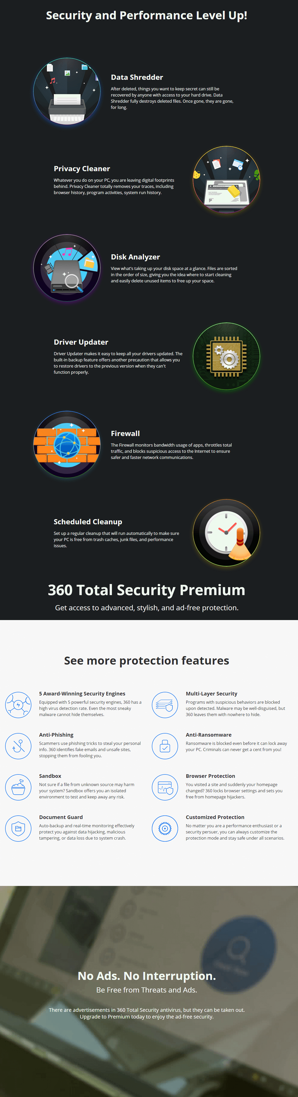 360 Total Security Premium Feature