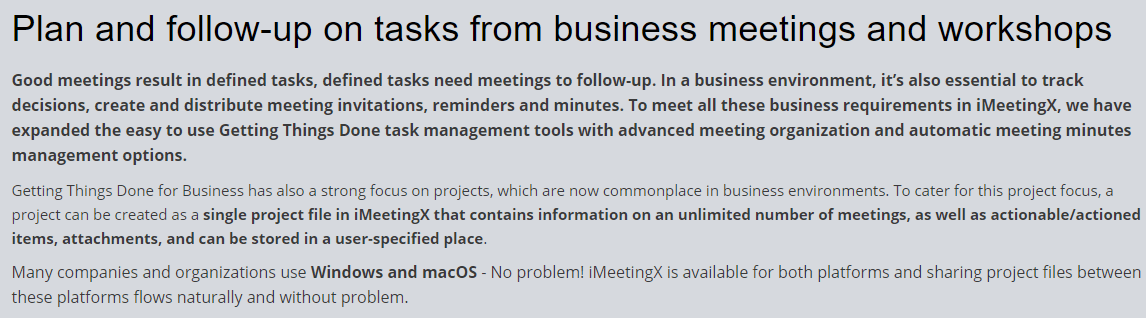 iMeetingX Feature