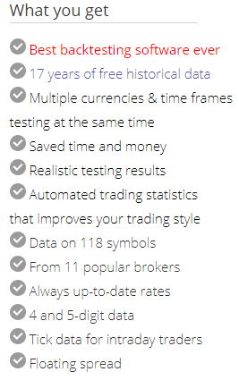 Forex Tester Feature