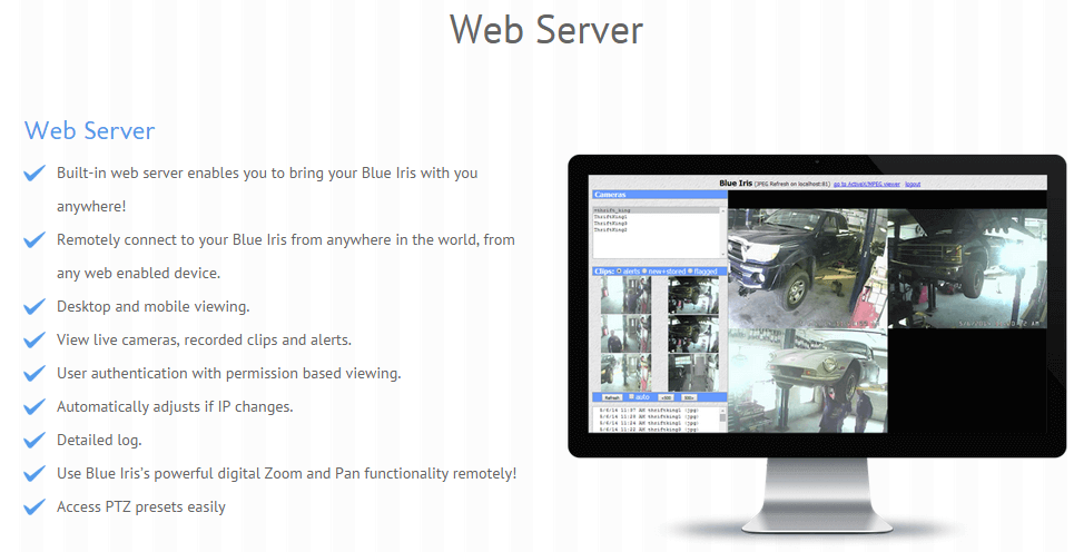 Blue Iris web server feature