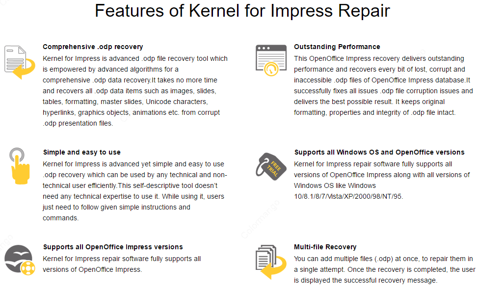 Kernel for Impress key Features