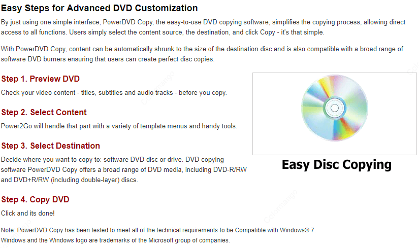 CyberLink PowerDVD Copy Feature