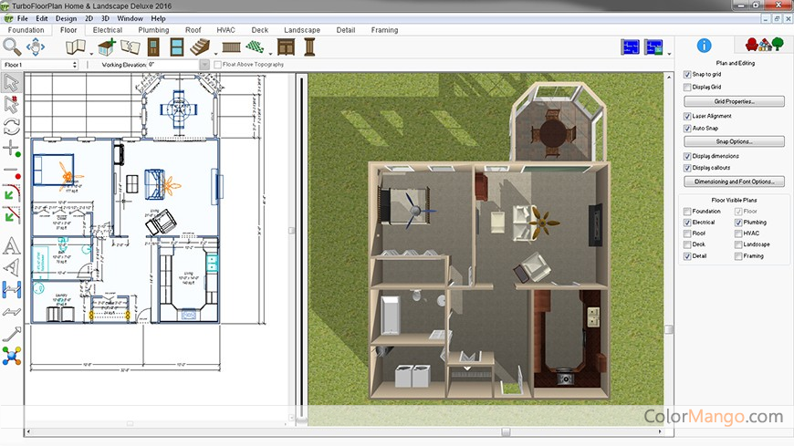 TurboFloorPlan Home & Landscape Pro Screenshot