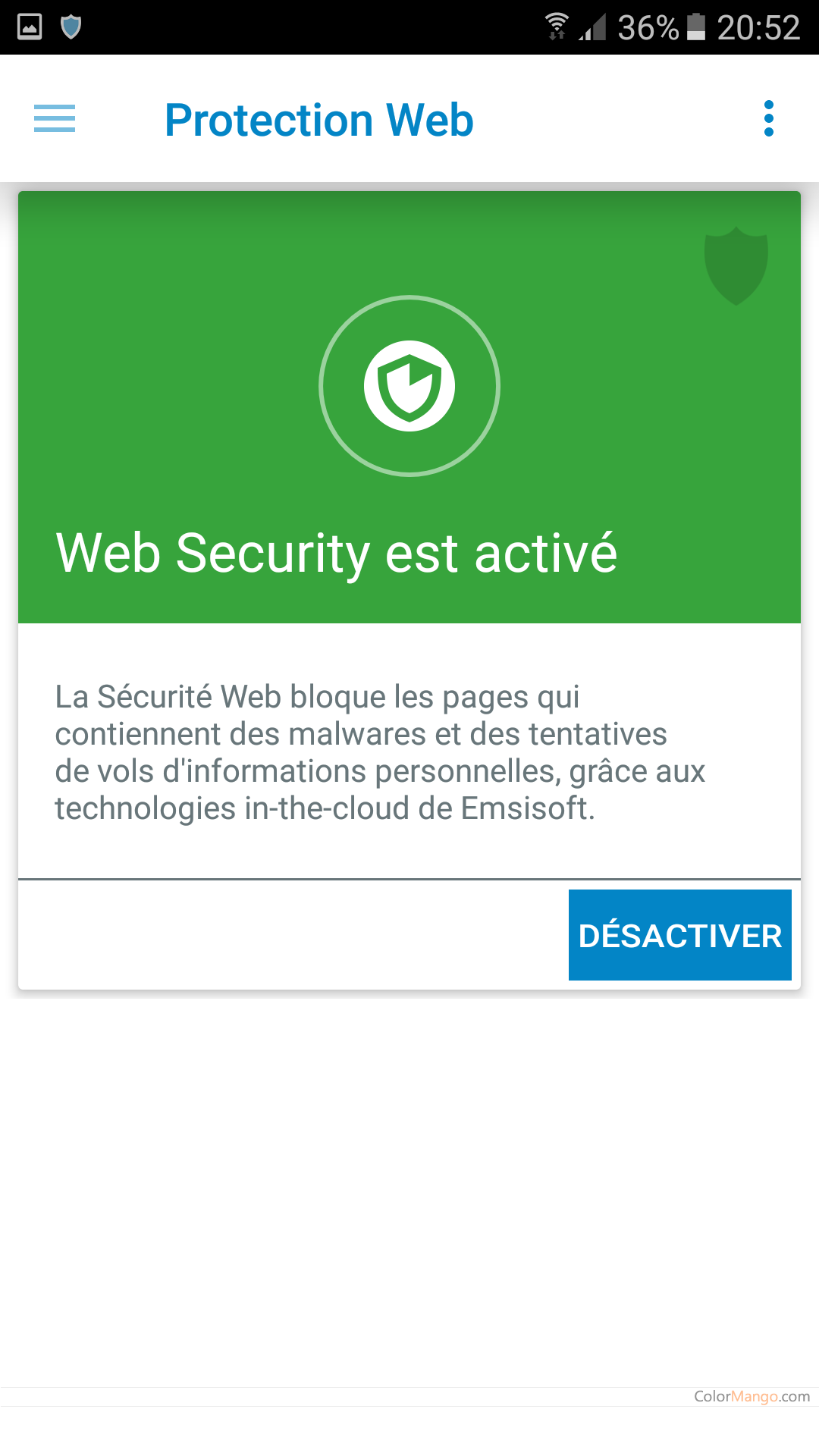 Emsisoft Mobile Security Capture D'écran