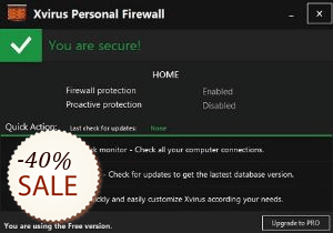 Xvirus Personal Firewall Discount Coupon