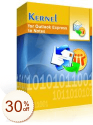 Kernel for Outlook Express to Notes Discount Coupon