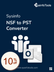 SysInfoTools NSF to PST Converter Discount Coupon