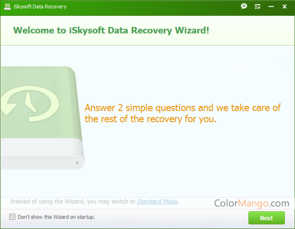iSkysoft Data Recovery Screenshot