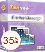Tansee iOS Message Transfer Info sur l'escompte