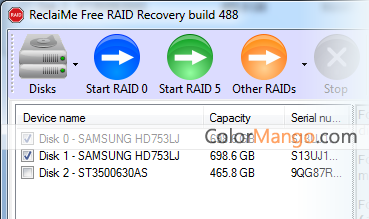 ReclaiMe Free RAID Recovery Shopping & Review Screenshot