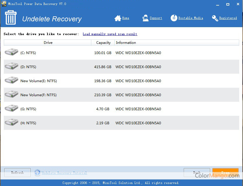MiniTool Power Data Recovery Screenshot