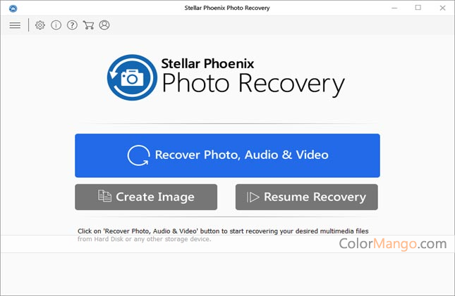 Stellar Phoenix Photo Recovery Screenshot
